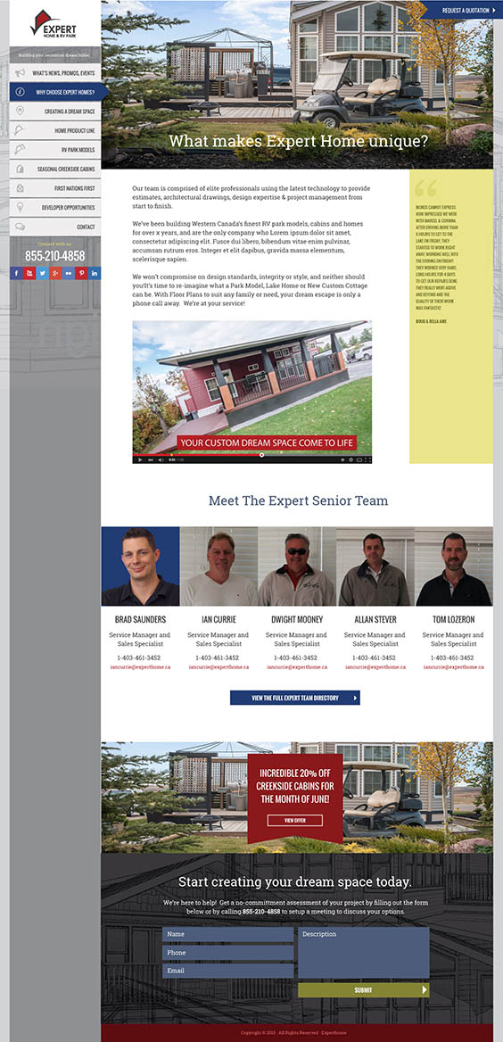 Expert Home - About Page
