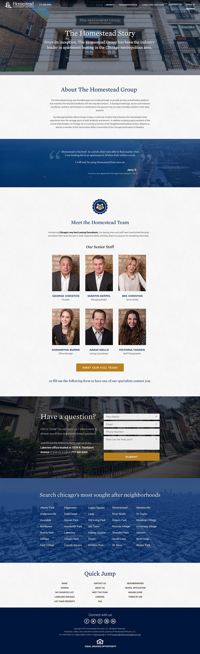 Homestead Group - Corporate Page