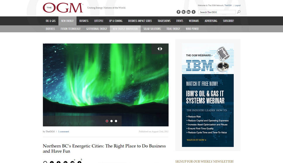 The OGM Website Design