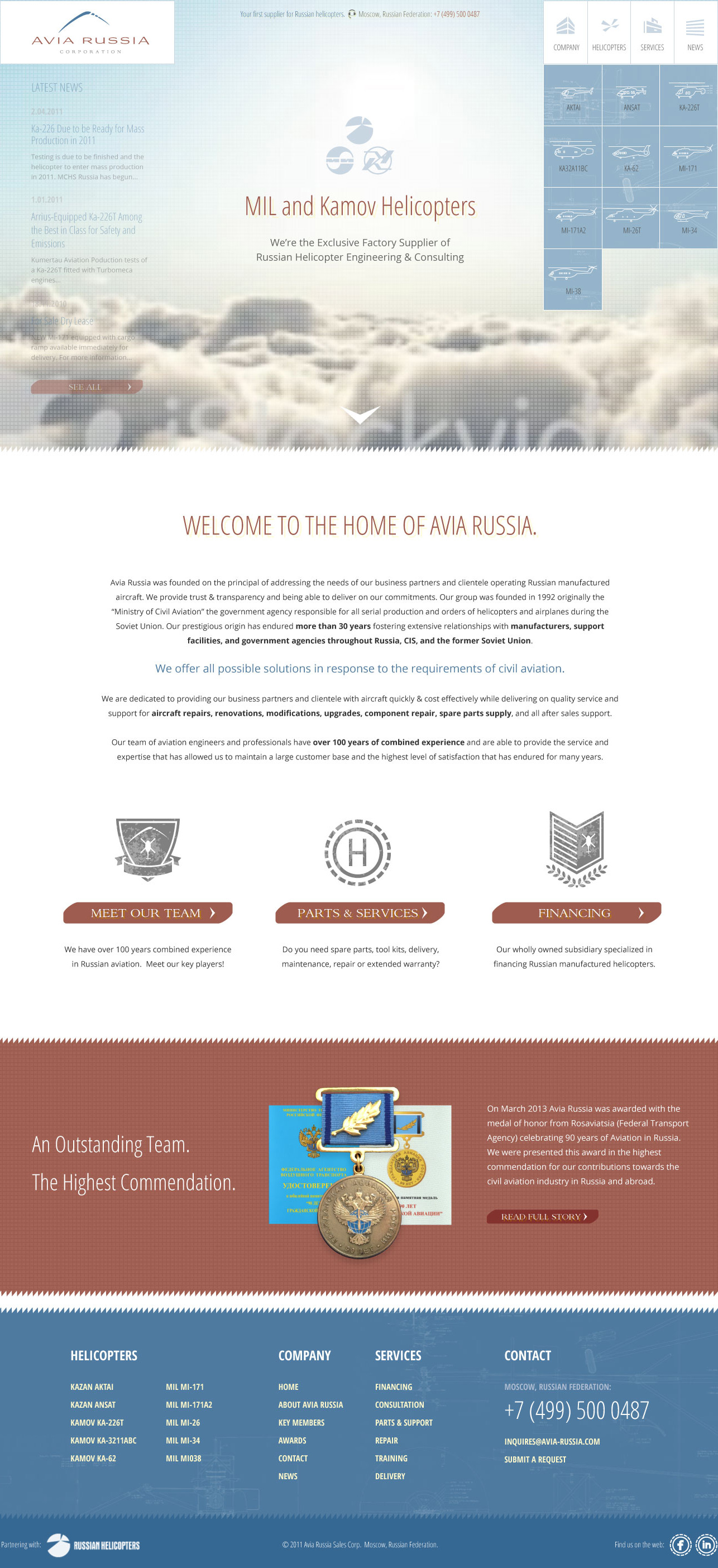 Avia Russia Website Design