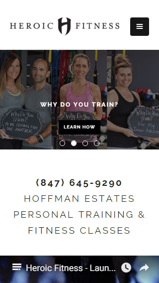 Heroic Fitness Website
