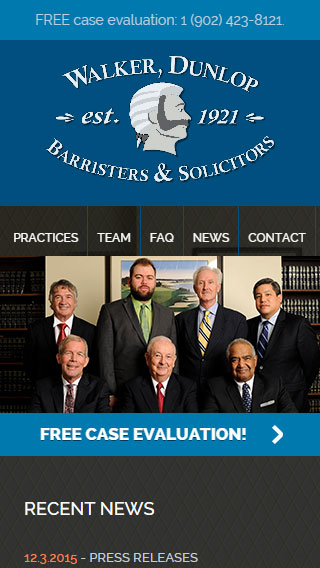 Walker Dunlop Law Website