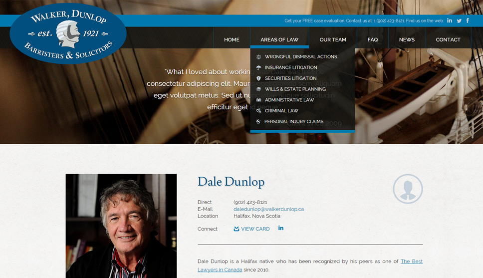 Walker Dunlop Website Design